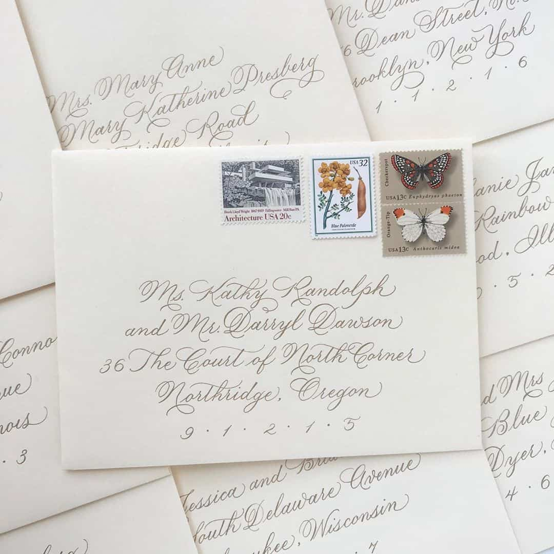 calligraphy envelope addressing example