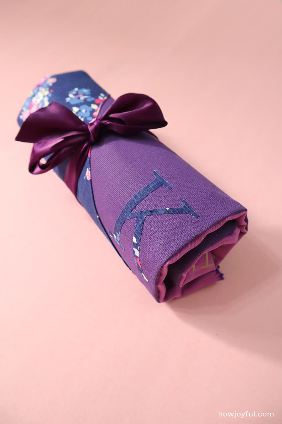 rolled case with bow