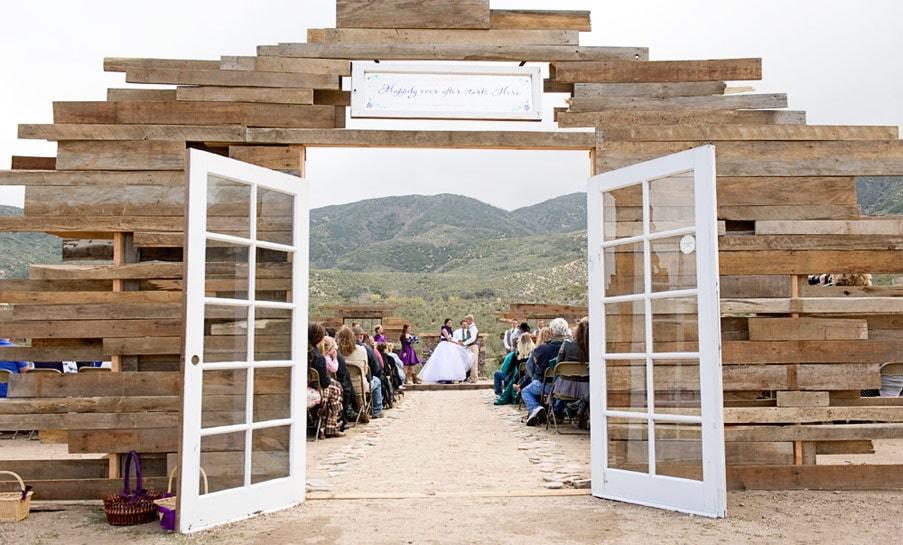 rustic deconstructed chapel