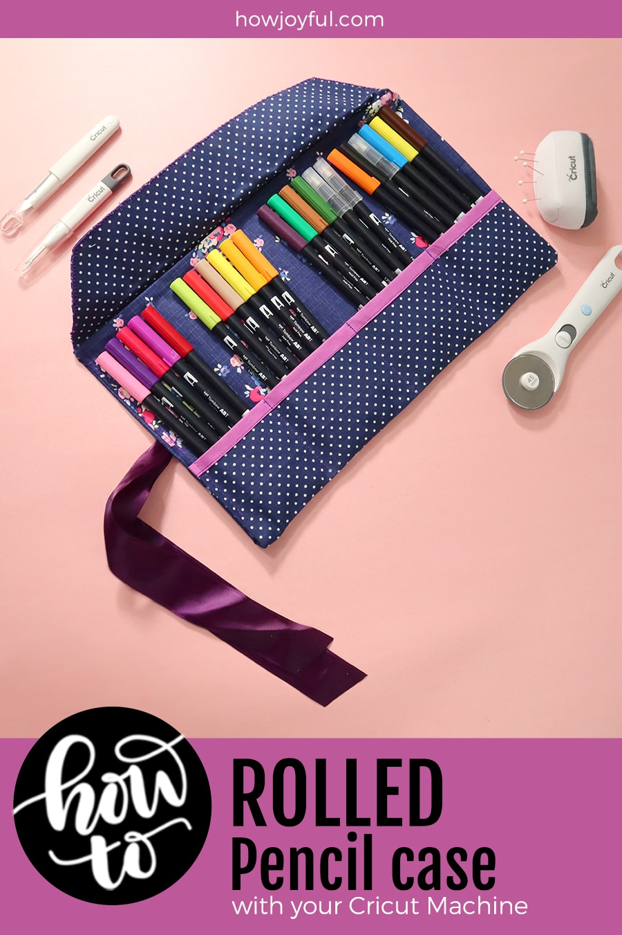 rolled pencil case