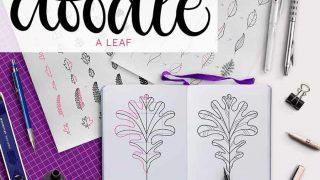 doodle a leaf