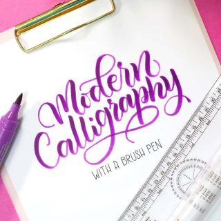 Modern calligraphy for beginners