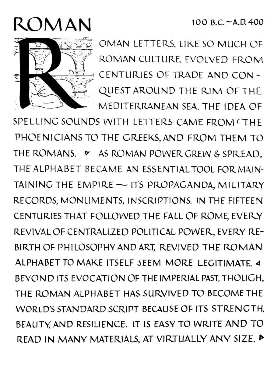 roman capitals example