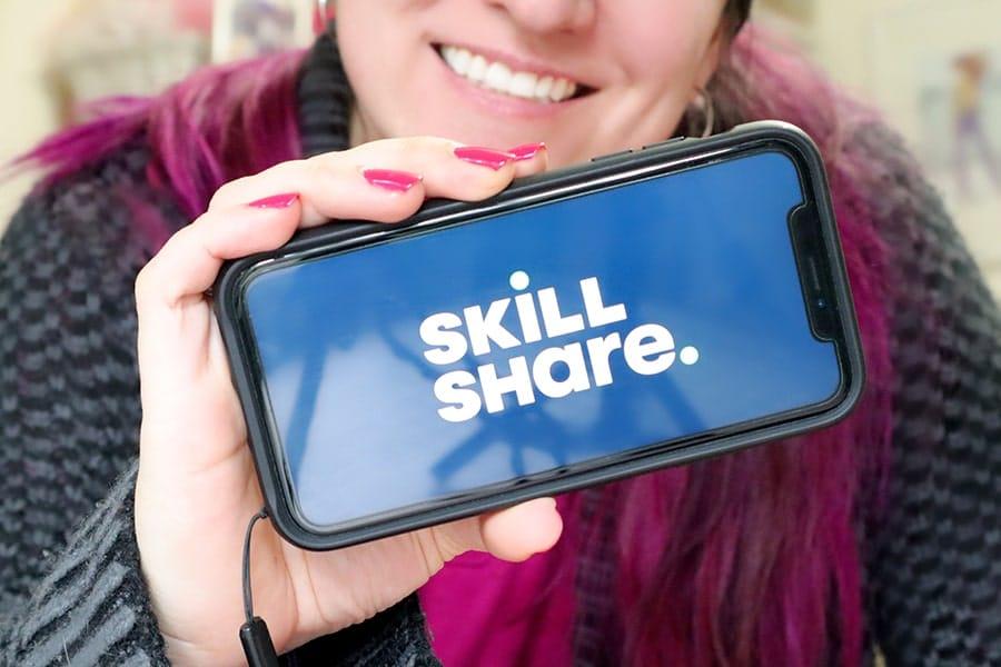 skillshare logo on iphone
