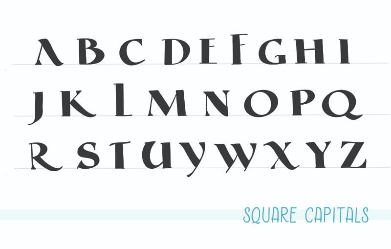Square Capitals Alphabet
