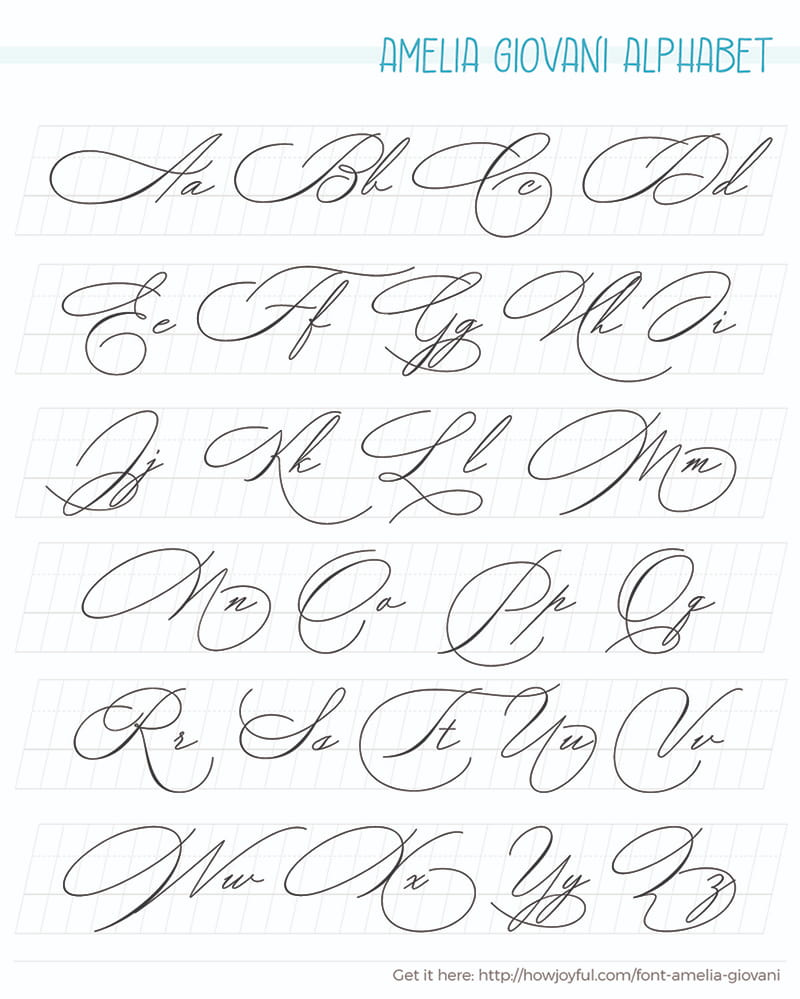 Calligraphy alphabets What are lettering styles + FREE WORKSHEETS