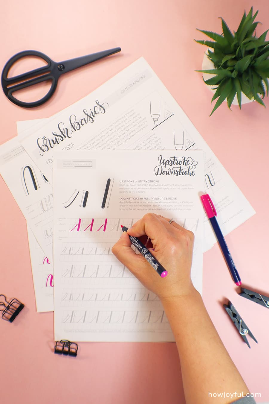 brush pen basics strokes printable