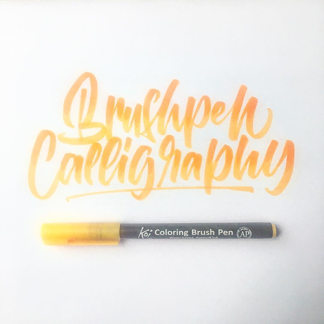 brush pen calligraphy example