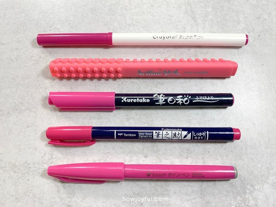 The brush pens for beginners