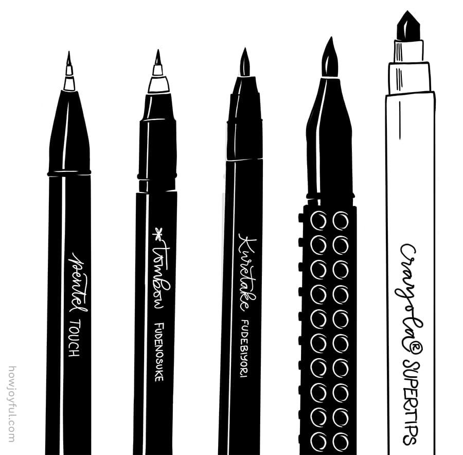brush pens for beginners