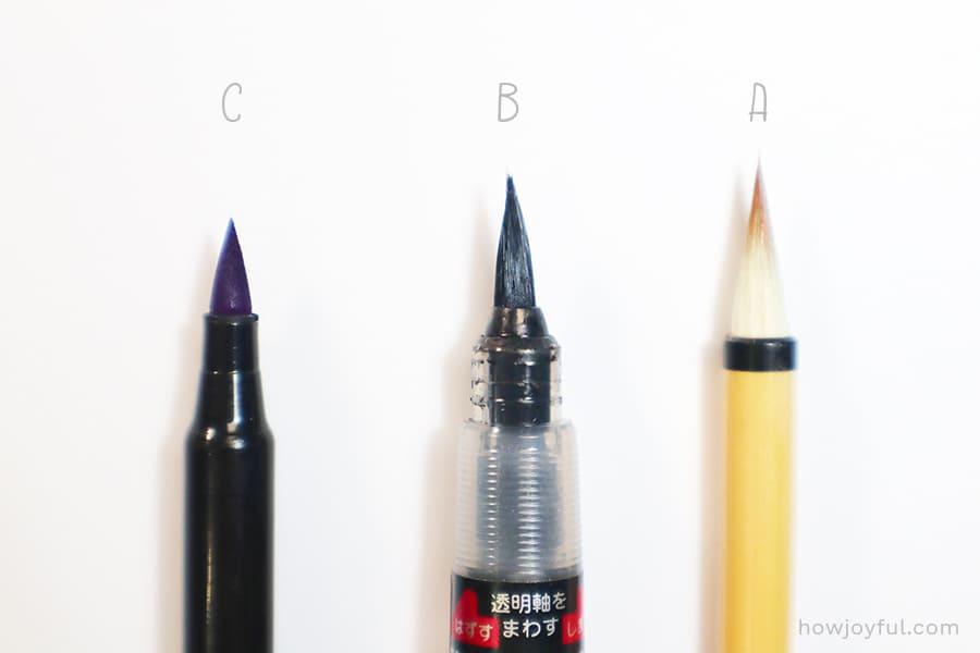 Brush tip kinds materials