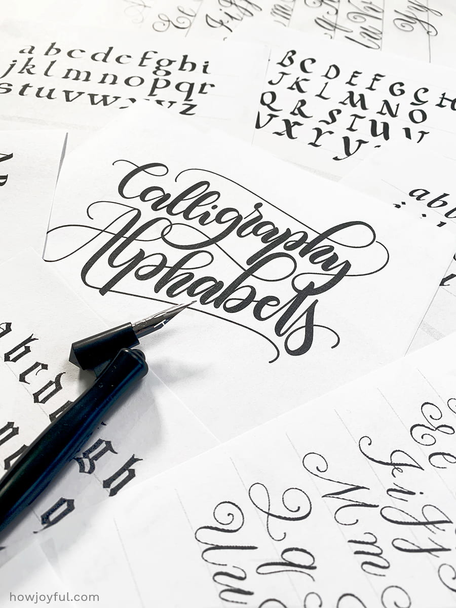 calligraphy alphabets example