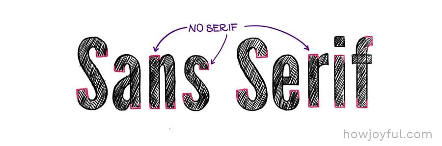 sans serif example