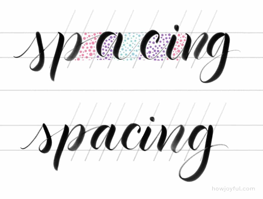 spacing in letters example