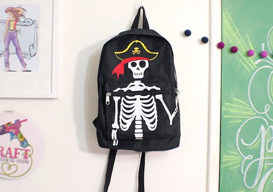 close up pirate backpacks