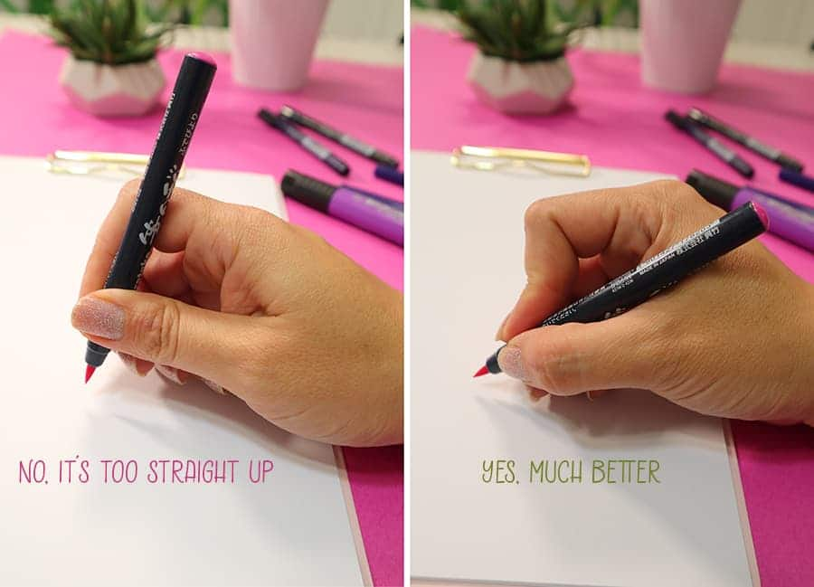 how to hold a pen