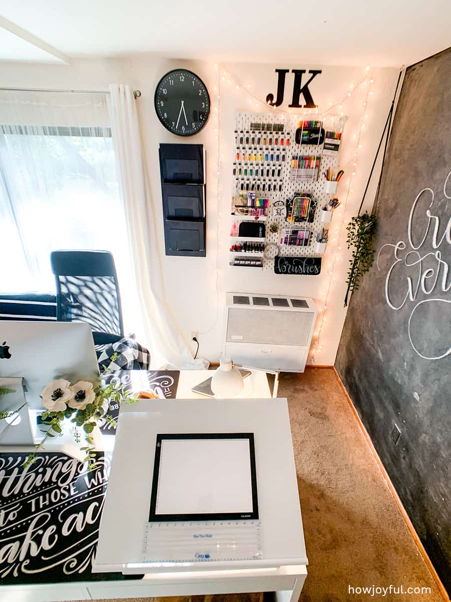 drawing table on top of desk