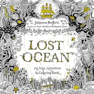 coloring book lost ocean