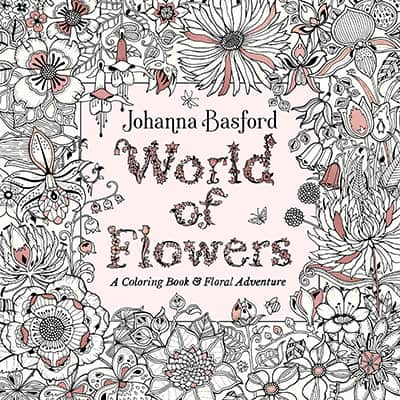 flower botanical coloring book