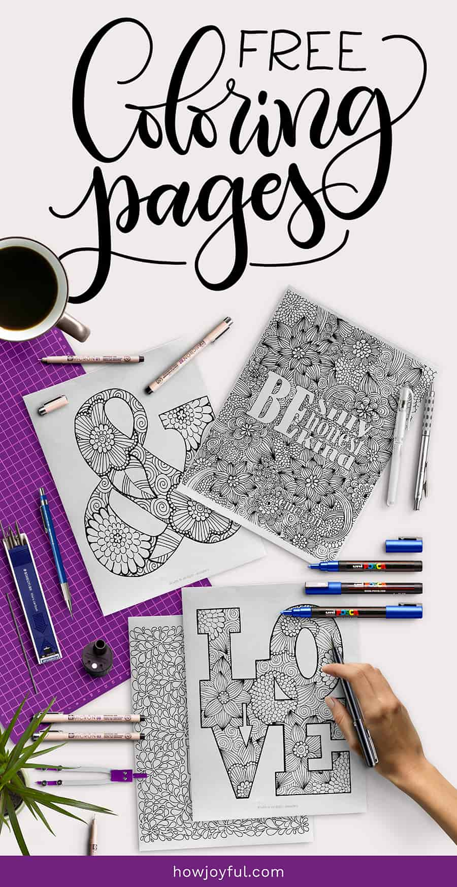 coloring pages lettering