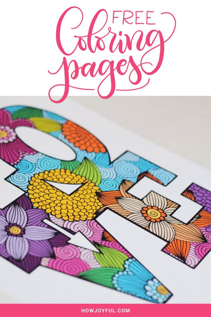 lettering coloring pages