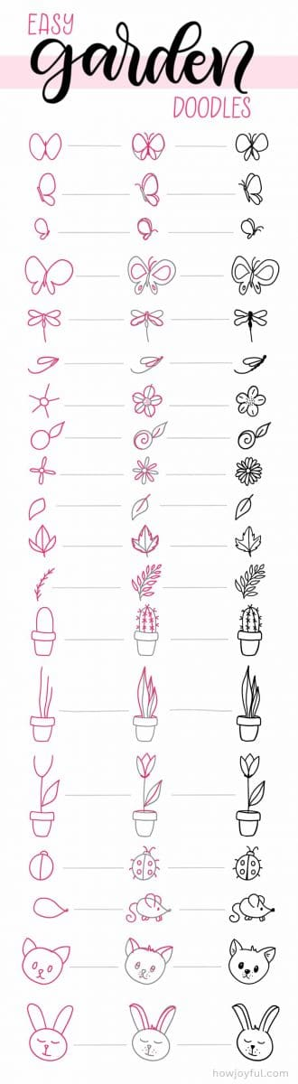 cute nature doodles to draw
