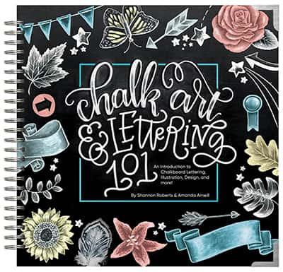 chalk art lettering book