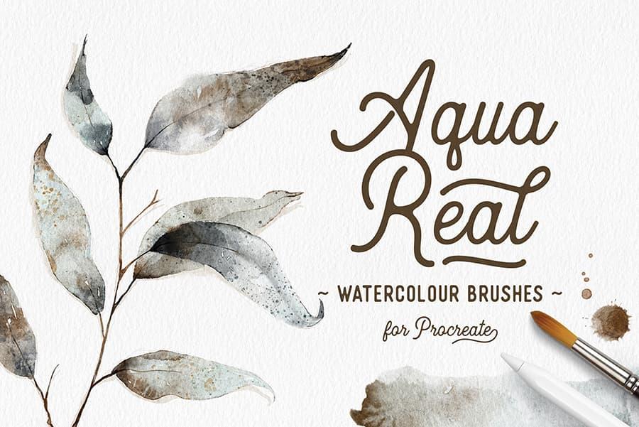 watercolor aquareal brushes