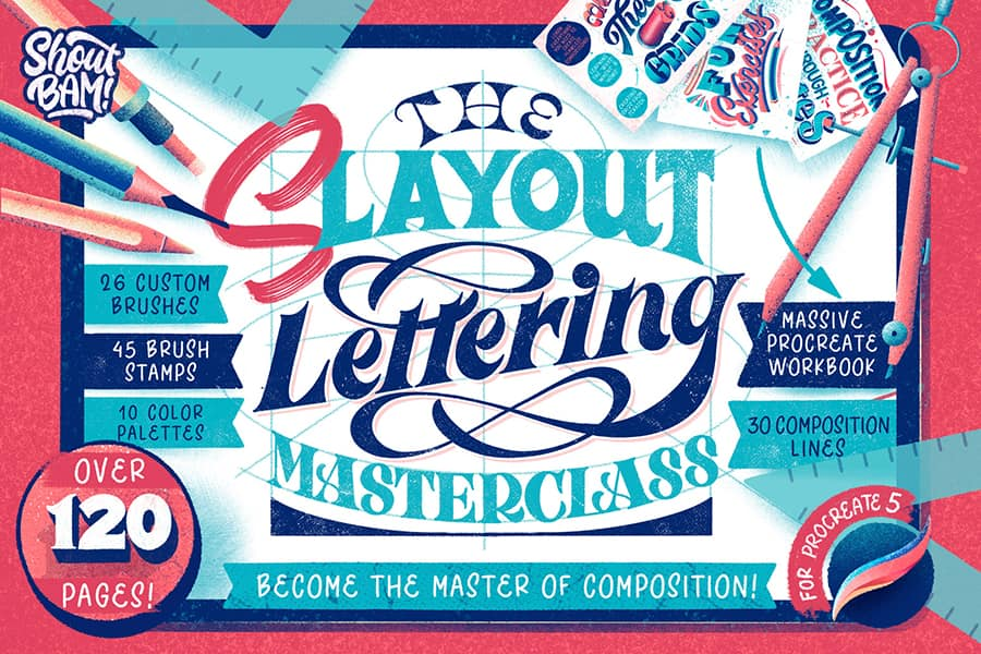 Slayout lettering masterclass for procreate