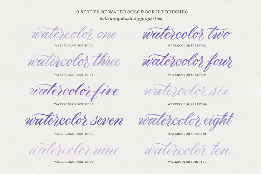 Watercolor Calligraphy Procreate