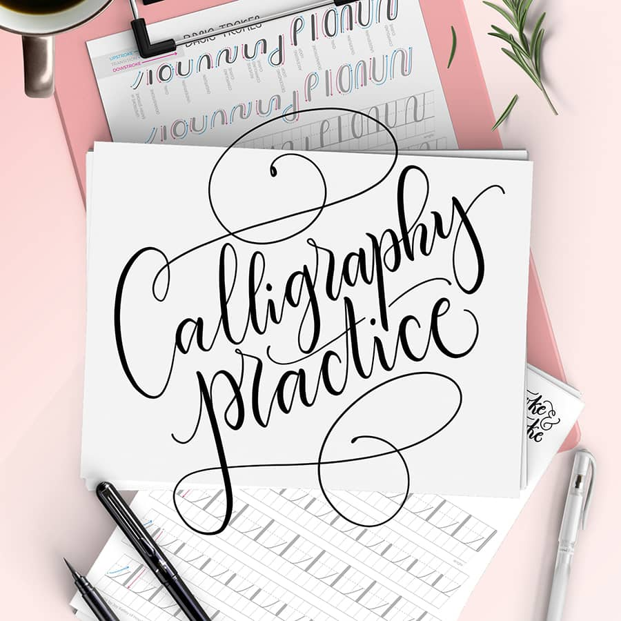 calligraphy practice cover