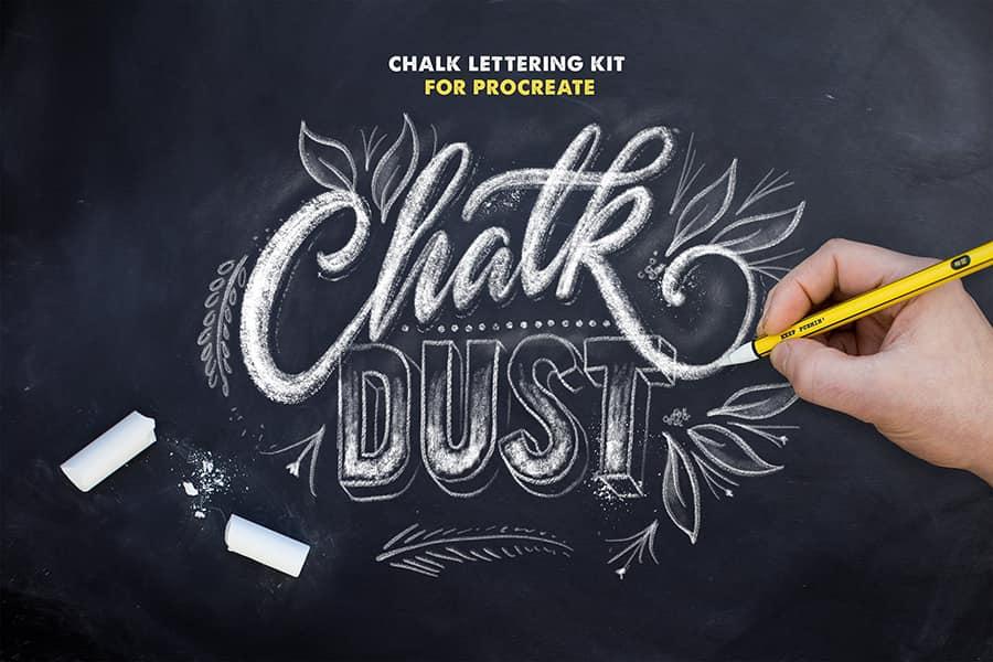 chalk lettering procreate