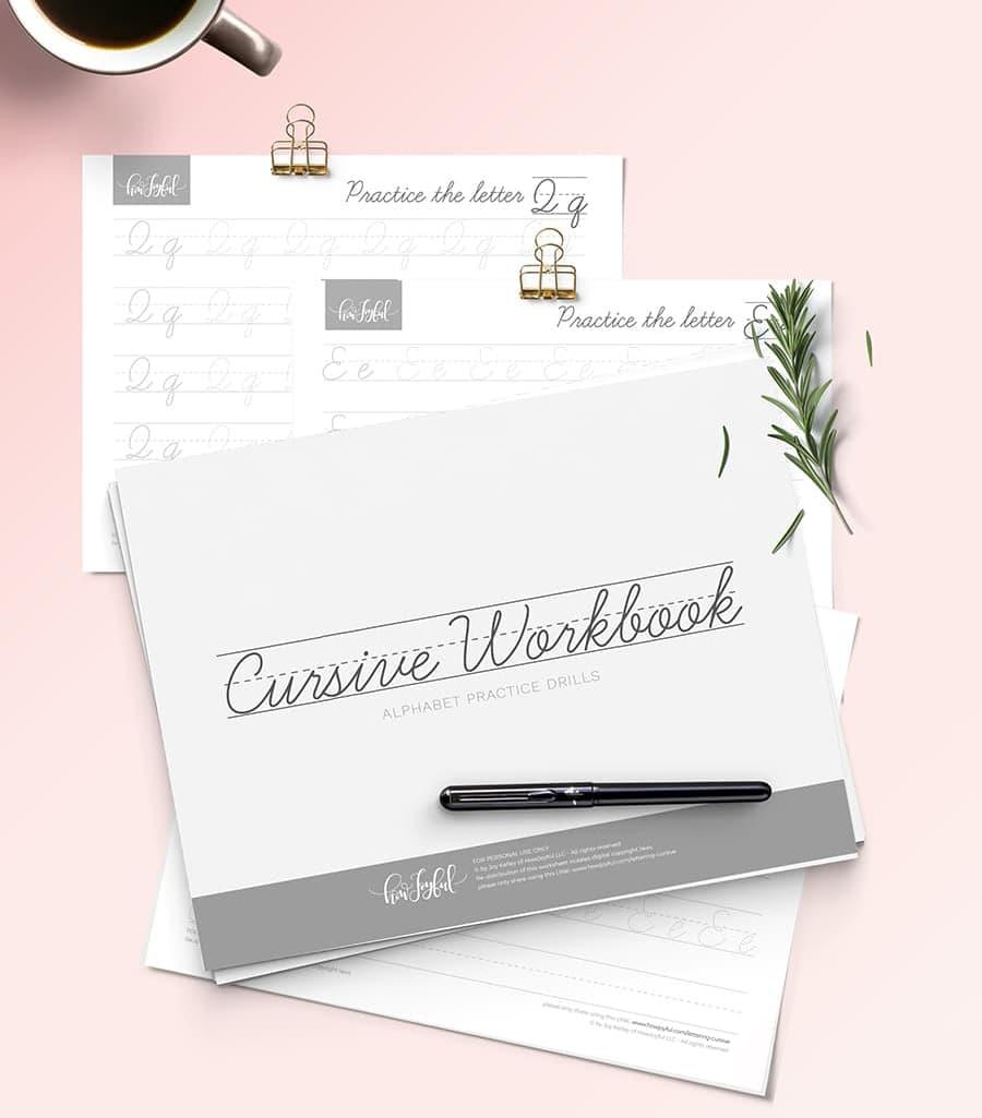 cursive free workbook