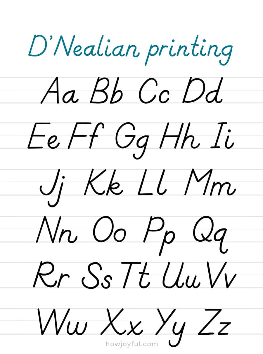 dnealian printing