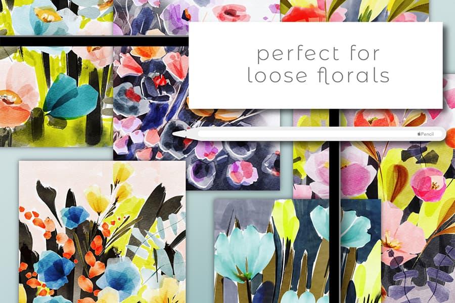 everything watercolor procreate brush
