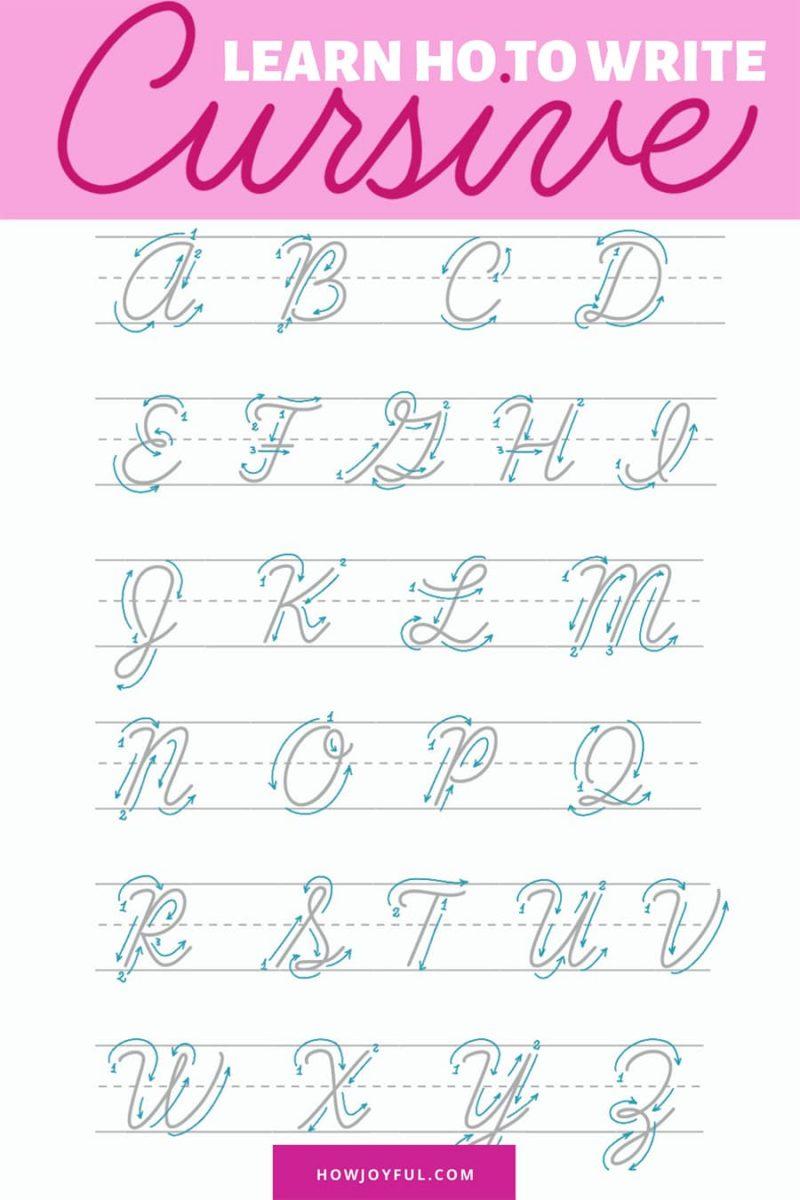 Learn cursive lettering