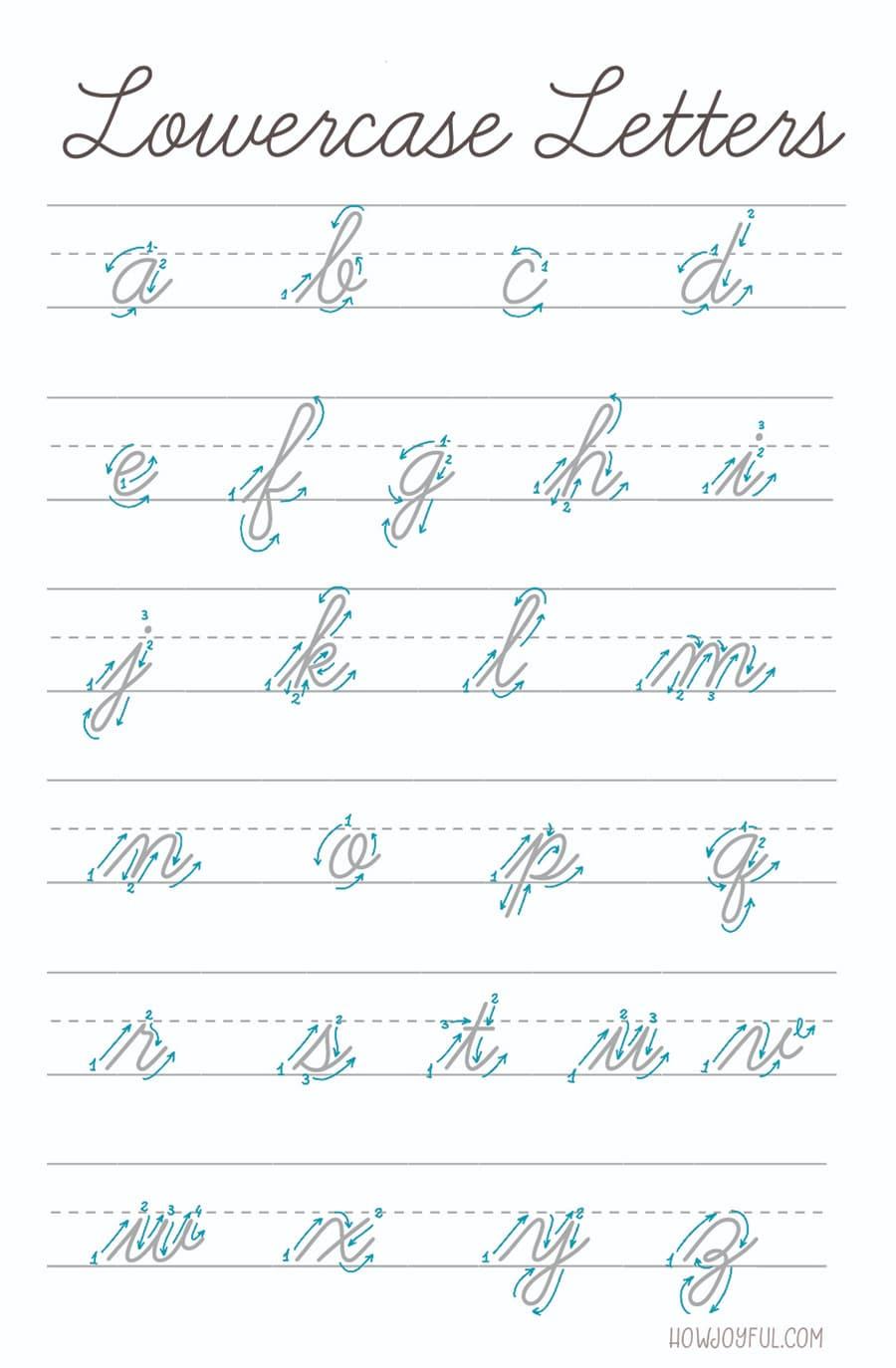 script alphabet lowercase