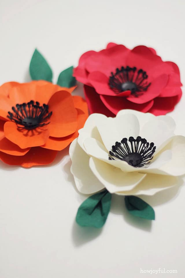 making a poppy flower