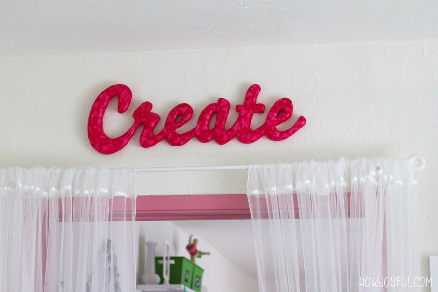 create in sewing room
