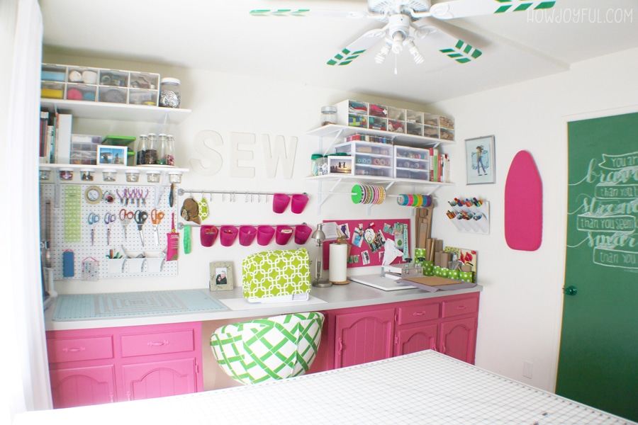 pink sewing room