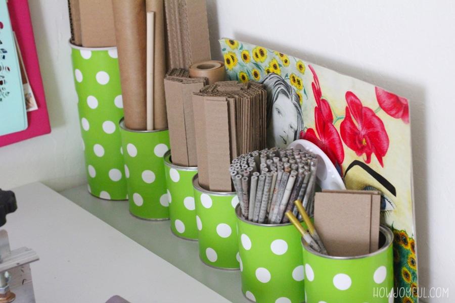 organize cardboard