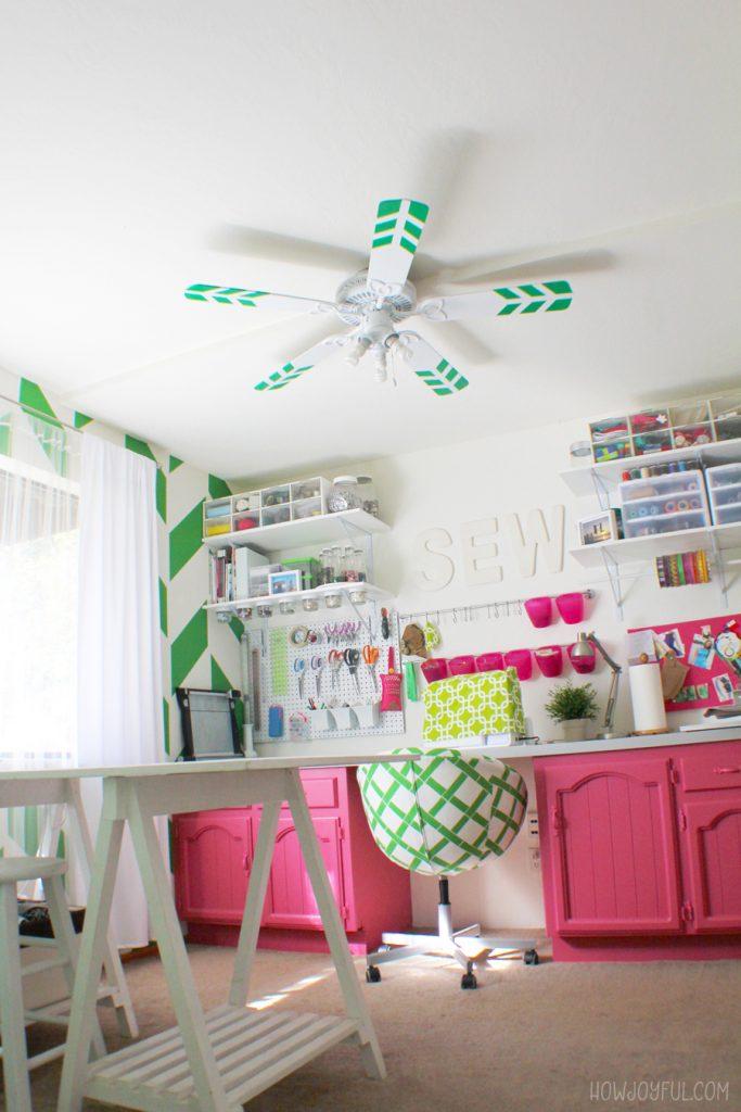 fan in the craft room