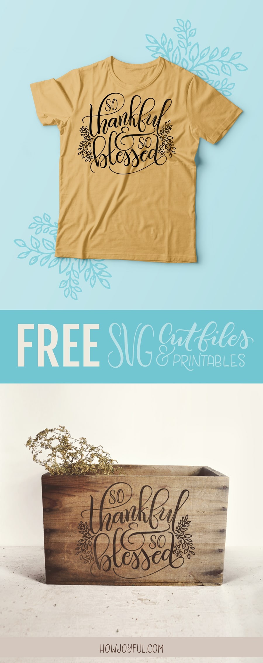 Get this lovely FREE cut file and printable by @howjoyful